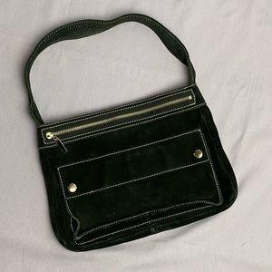 Vintage Banana Republic Black Suede Shoulder Bag